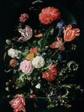 Flowers in a Glass Vase  C1660