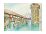 Kapelbrucke  Lucerne  19th Century
