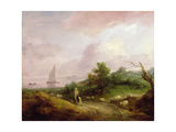Coastal Landscape with a Shepherd and His Flock  C1783-4