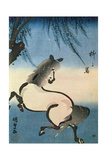 A Horse Galloping under a Willow Tree