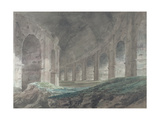 Interior of the Lower Ambulatory of the Colosseum  Rome  1778