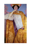 Portrait of a Woman in a Golden Dress  Painted in Collaboration with Ernst Klimt (1864-92) Franz…