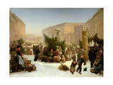 Selling Christmas Trees  1853