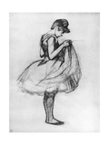 Dancer Adjusting Her Costume and Hitching Up Her Skirt  1889