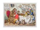 John Bull Taking a Luncheon  or British Cooks  Cramming Old Grumble-Gizzard with Bonne-Chere …