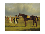'Euclid' with His Jockey Conolly and Trainer Pettit