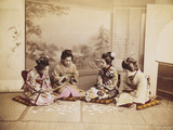 Japanese Women Playing Cards  C1867-90