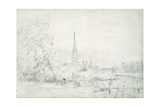 Salisbury Cathedral from the North West  1829