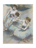 Three Dancers in a Diagonal Line on the Stage  C1882
