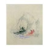 Fire at Sea  a Design for a Vignette  1835