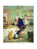 Temperance Enjoying a Frugal Meal  Published by Hannah Humphrey  1792