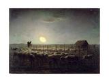 The Sheepfold  Moonlight  1856-60