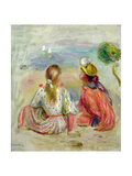 Young Girls on the Beach  C1898