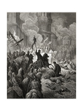 Entry of the Crusaders in Constantinople in 1204  Illustration from 'Bibliotheque Des Croisades'…