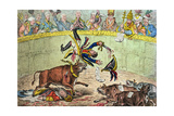 The Spanish Bull Fight  or the Corsican Matador in Danger  Published by Hannah Humphrey in 1808