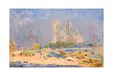 Quai De La Tournelle and Notre-Dame De Paris  1884
