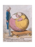 A Sphere Projecting Against a Plane  Published by Hannah Humphrey in 1792