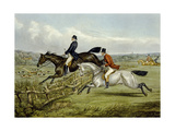 Jumping  Plate from 'The Right and the Wrong Sort'  in Fores Hunting Sketches  Engraved by John…