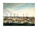 The Hongs at Canton  before 1820
