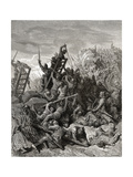 The Siege of Ptolemais  Illustration from 'Bibliotheque Des Croisades' by J-F Michaud  1877
