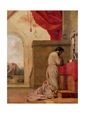 St Bruno (1030-1101) Praying in His Chapel  from the Life of St Bruno  1645-48