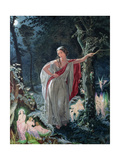 A Midsummer Night's Dream: Hermia Surrounded by Puck and the Fairies  1861