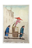 A Modern Belle Going to the Rooms at Bath  Published by Hannah Humphrey in 1796