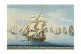 Ship Mount Vernon of Salem Outrunning a French Fleet