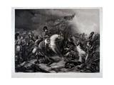 Napoleon (1769-1821) at the Battle of Waterloo  1815
