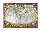 World Map  Entitled 'Unviersalis Tabula Iuxta Ptolemeum'  Plate 1 from Mercator's Edition of…