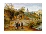 A Village Landscape with Farmers  1634