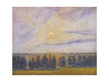 Sunset at Eragny  1890