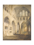 East End of the Nave  Salisbury Cathedral  1797