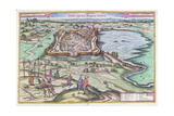 The Hungarian Fort of Papa at the Time of the Ottoman Sieges  from 'Le Theatre Du Monde' by Georg…