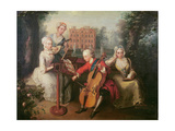 Frederick  Prince of Wales and His Sisters  1733