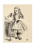 Alice Peering at the Drink Me Bottle  from 'Alice's Adventures in Wonderland' by Lewis Carroll …