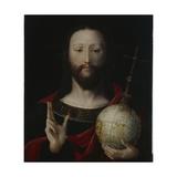 Christ with Globe - 'salvator Mundi'  Lower Rhine  1537-45