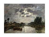 Moonlight  Canal De St Valery  1891