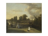 View of Chiswick Villa from a Balcony Above the Cascade with the Lake  1742
