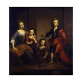 Portrait of Richard Boyle  3rd Earl of Burlington  with His Three Sisters  Elizabeth  Juliana and…