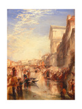 The Grand Canal: Scene - a Street in Venice  C1837