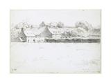 View of Farm Buildings across a Field  1871