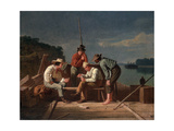 In a Quandary  or Mississippi Raftsmen at Cards  1851
