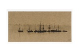 Boats at Anchor in an Estuary  1892