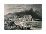 Etretat  Illustration from the Chapter on Normandy from 'La Normandie Illustree'  Engraved by…