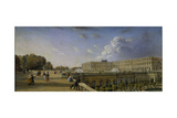 The Palace and Terrace at Versailles  C1825-35