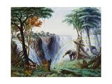 The Mosi-O-A-Tunya (Smoke Resounding) or Victoria Falls  Zambesi River  1874