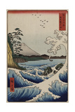 The Sea Off Satta in Suruga Province  from the Series 'The Thirty-Six Views of Mount Fuji'