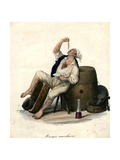 Porter Eating Macaroni  1840