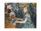 Lucie Leon at the Piano  C1892